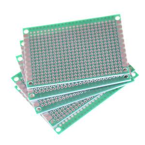 5pcs 4*6cm Single Side Tinned Prototype Protoboard Circuit PCB Board 1.6mm RS