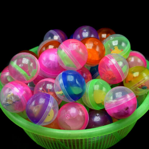 10x 45mm plastic balls capsules toys with different small toys vending machine H
