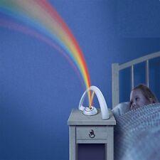 Magic Children Kids Home Bedroom Decor Rainbow Led Projector Night Light Lamp