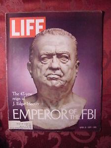LIFE April 9 1971 FBI J. EDGAR HOOVER WILLIAM CALLEY ++