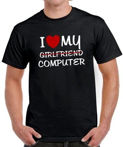 T-Shirt für Gamer den Nerd /& den Geek PC Spruch I LOVE MY Girlfriend COMPUTER