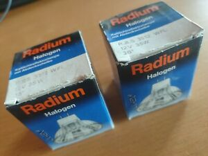 Lote-2-halogenos-12V-de-35W-Radium-halogen-Germany-UV-EX