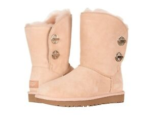 af8d07ee0e4 NEW WOMEN UGG 2019 SHORT BOOTS TURNLOCK AMBERLIGHT PEACH BEIGE ...