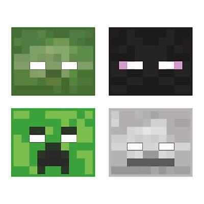 New Minecraft Birthday Party 8 Masks Favors Creeper Enderman Giant Skeleton Mobs Ebay