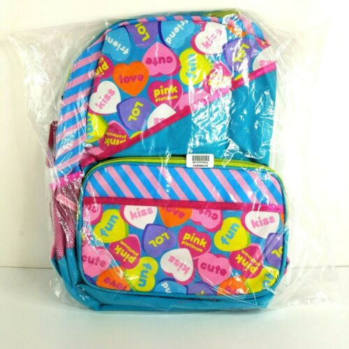 """Candy Hearts Child Backpack 14/"""" FAB Starpoint Pink Platinum"""