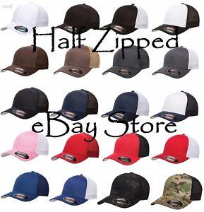 50 Flexfit Trucker Cap Fitted Mesh Baseball Hats 6511 One Size Hat ... d430a8cfb8b