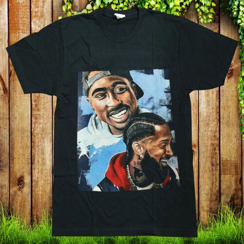 Nipsey Hussle 2pac T-Shirt Hip Hop Rap pop Fashion T-Shirt Thug Life Death Row