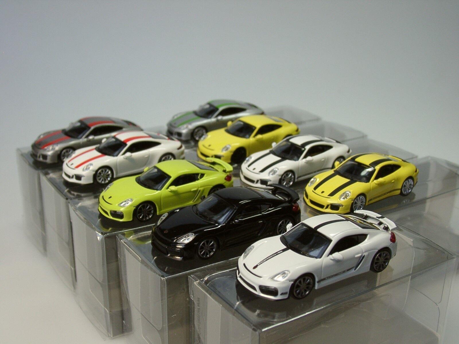 Minichamps Porsche Set  PORSCHE 911 R, Cayman gt4 = 9 modèles - 870 066xxx, 1 87