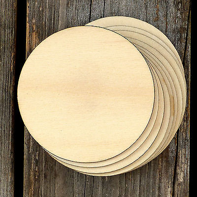 10x Wooden Plain Egg Craft Shapes 3mm Plywood