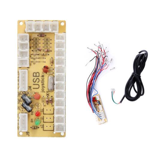 Zero Delay Arcade USB Encoder PC to Joystick MAME 5Pin Sanwa Push Button cable