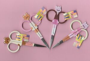 Embroidery-Scissors-95mm-3-3-4-034-Snips-Teddy-Bear-Rilakuma-CHOOSE-of-4-designs