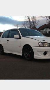 12mm Gloss White Bonnet Raisers Toyota Supra Turbo Glanza Celica Corolla Starlet