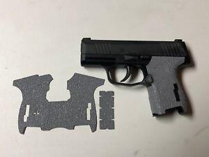 HANDLEITGRIPS-Gray-Textured-Rubber-Gun-Grip-Tape-Gun-Parts-SIG-SAUER-P365