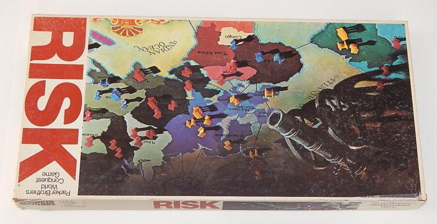 Jahrgang 1980 risiko in der welt eroberung brettspiel guter form r8341