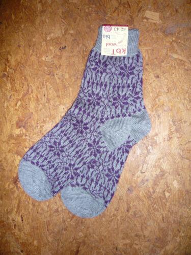 Hirsch Natur Norweger Sterne Wolle Socken Schurwolle kbT Norwegermuster 36-47
