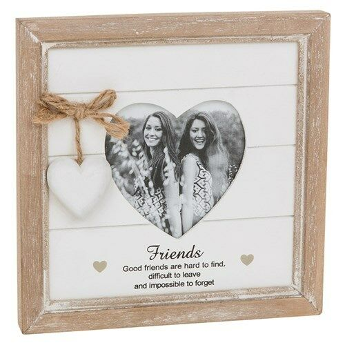 Good Friends Are Hard To Find Gift Shabby Chic Heart Wooden Photo