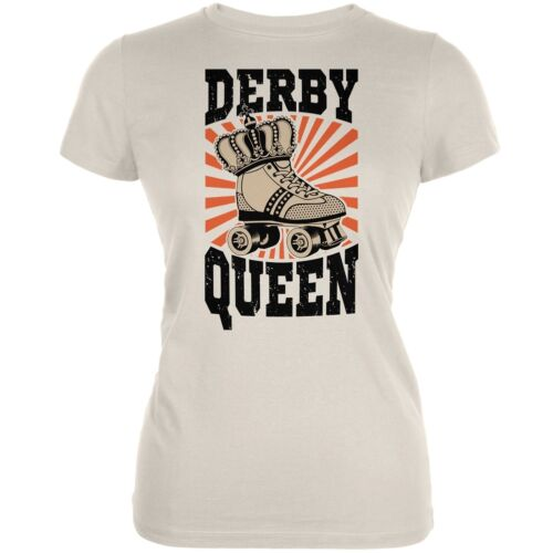 Roller Derby Derby Queen Cream Juniors Soft T-Shirt
