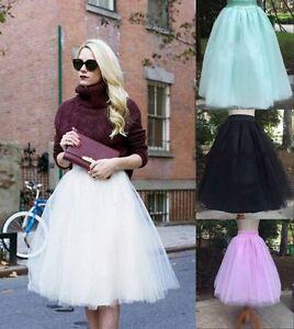 Lady-Princess-Tutu-Skirt-Fancy-5Layer-Dress-Fairy-Gauze-Tulle-Ballet-Party-Gift