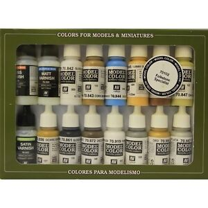 Vallejo-VAL70102-Modello-Colore-Folkstone-16-x-Speciale-Set-Pittura-Plus-Gratis