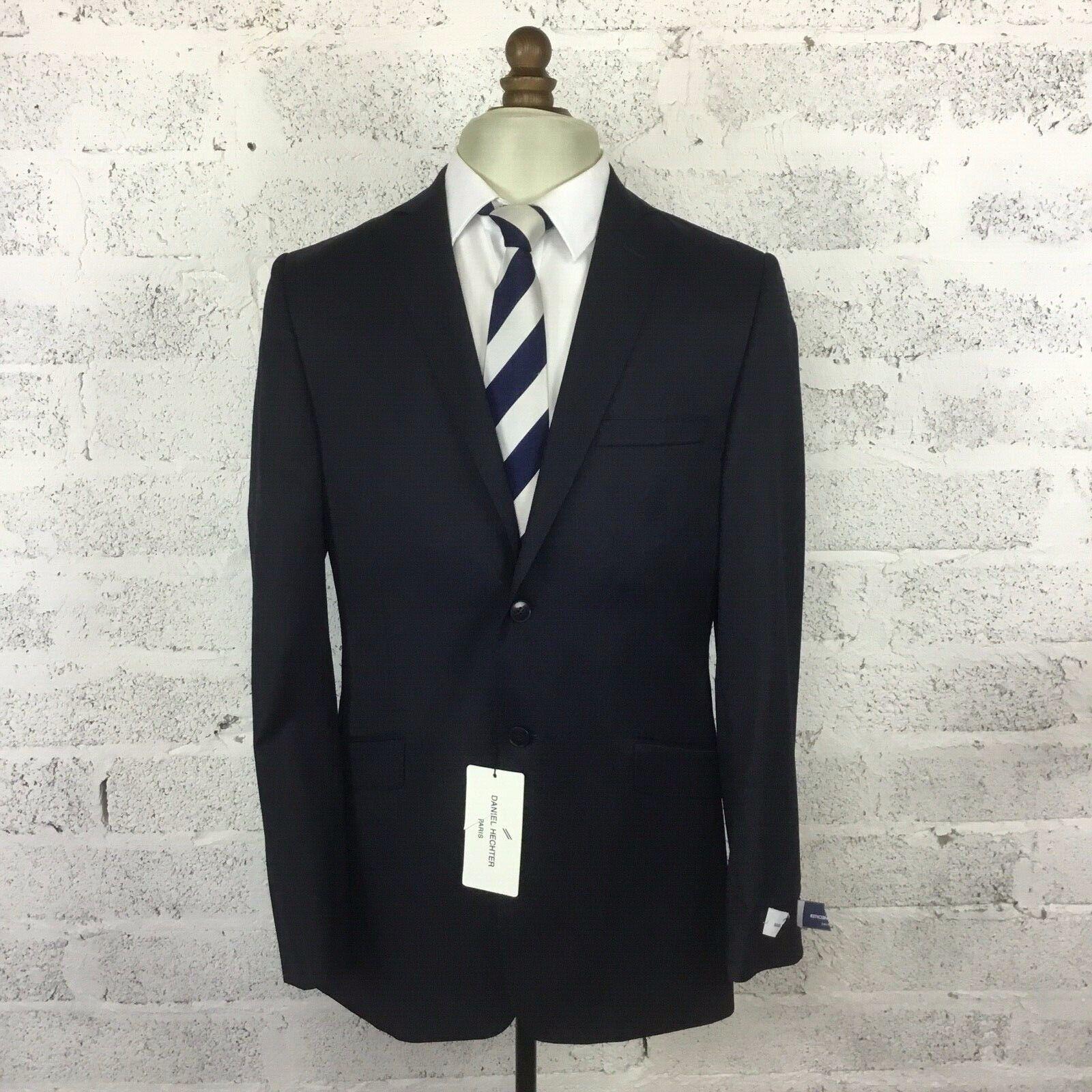 Daniel Hechter herren Pindot Navy Suit jacke wolleMix  180 BNWT Größe 40L Fab