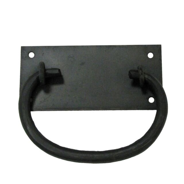 """Wrought Iron Door Handle Black Rustproof Drawer Pull 10/""""Renovator/'s Supply"""