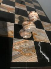 "1 Marble 1-3//4/"" Replacement Pawn Chess Piece Black Gray For 13-1//2/"" Inch Board"