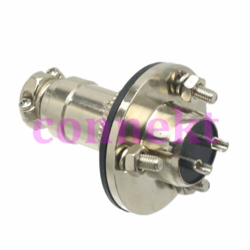 M16 16mm 2 Pin Aviation Circular Connector socket flange waterproof Connector
