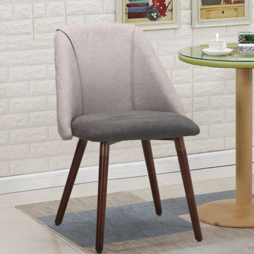 Modern Chair Back Sofa Chair Armchair Side Chairs Grey Home Office Restaurant UK