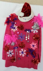 image is loading deb rottum 039 s ugly tacky christmas sweater - Pink Ugly Christmas Sweater