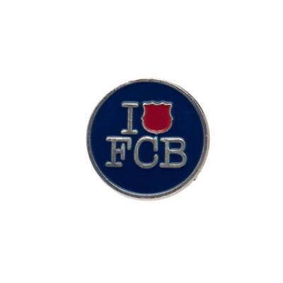 Fc Barcelona Purple Metal Pin Badge I Love Barcelona Lapel Badge