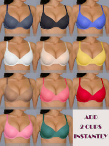 bda0a67f1d43a Details about 32 34 36 38 B C Perfect Fit Boost UR Bust SEAMLESS ADD 2 CUPS  Sizes Push Up BRA