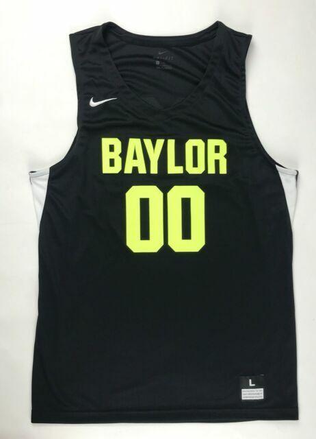 Nike Baylor University Bears Stock Basketball Jersey Men's L 932177 Black