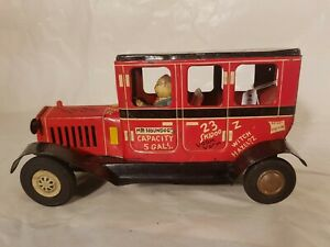 Tin-Toy-1950-039-s-friction-LAUREATE-STUDENT-CAR-made-in-Japan-very-good-conditions