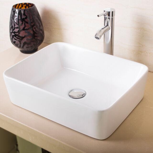 Charmant Walcut USBR1028 Bathroom Rectangle White Lavatory Porcelain Ceramic Vessel  Sink | EBay