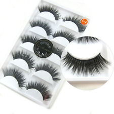 New 5 Pairs Luxurious 3D False Eyelashes Cross Natural Long Eye Lashes Makeup L7