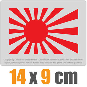 Japon-marina-de-guerra-de-14-x-9-cm-JDM-decal-sticker-coche-car-blanco-discos-pegatinas