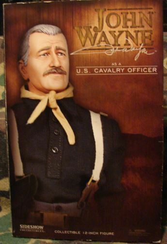 SIDESHOW JOHN WAYNE US CAVALRY CAPTAIN ADULT COLLECTIBLE SCULPTED  BY MAT FALLS