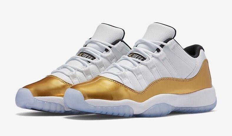 2016 Nike Air Jordan 11 XI Low Gold Medal Closing Ceremony Size 7. 528895-103