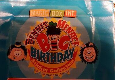 DENNIS THE MENACE BIG BIRTHDAY X5O LOOSE STICKERS