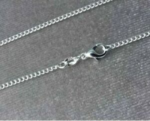 925-SILVER-CURB-CHAIN-NECKLACE-LOBSTER-CLASP-ALL-INCH-SIZES-10000-SOLD-UK-SELLER