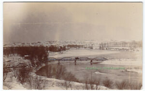BURWELL-BRIDGE-Burwell-NEBRASKA-c1910-Photo-POSTCARD-Garfield-County
