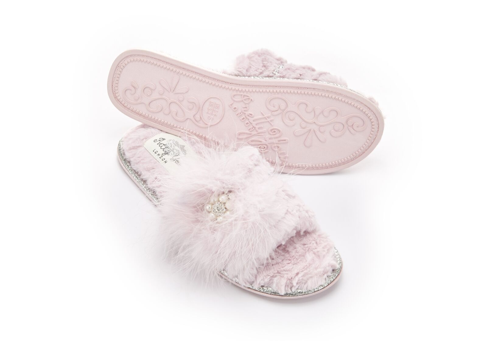 Pretty Band You London E7 Women's Footwear One Band Pretty Pink Slippers Odette Choose Size d1289b