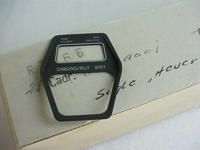 Heuer Manhattan GMT Chronosplit Cal 104 Stahl, Modell 104.403 G Zifferblatt NOS