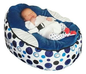 Image Is Loading Blue Circle Baby Bean Bag With Filling UK
