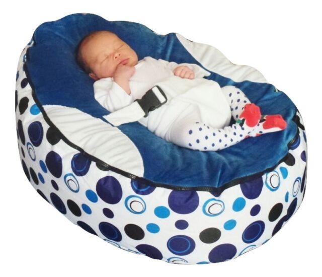 Blue Circle Baby Bean Bag with Filling-UK Seller