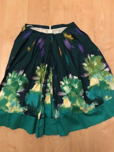 Womens Cotton Size Teal Print Green Floral Blue Paint Eggs 44 Skirt Stroke Atpxqd5wO