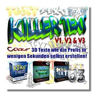 KillerText Pakete, Vol 1, Vol 2 und Vol 3 - inkl. Master Reseller Lizenz - Gersdorf, Deutschland - KillerText Pakete, Vol 1, Vol 2 und Vol 3 - inkl. Master Reseller Lizenz - Gersdorf, Deutschland