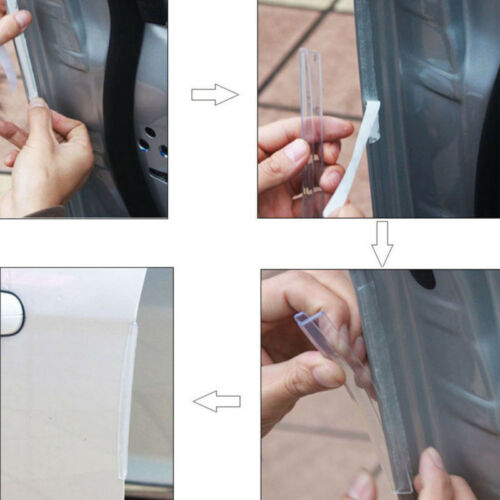 8pcs//Set Black Car //Van Door Edge Guard Trim  Protector Strips Anti Scratch