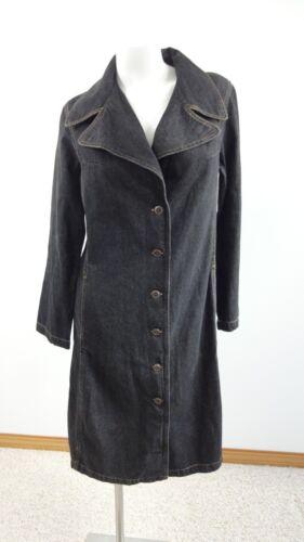 S Délavé Blue Taille J Fantastiques Veste Foncé Manteau Longue Jeans Femmes waav6gqx