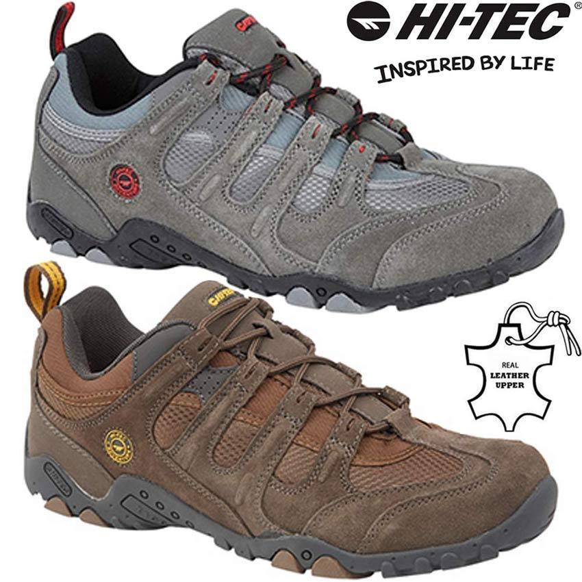 Para Hombres Cuero Caminar Senderismo Entrenadores Hi Tec botas De Trekking Calzado para Correr Talla
